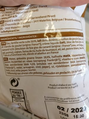 Potage gourmet - Ingrédients - fr