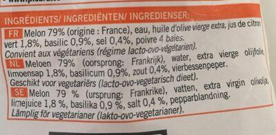 Velouté glacé melon basilic - Ingrediënten - fr