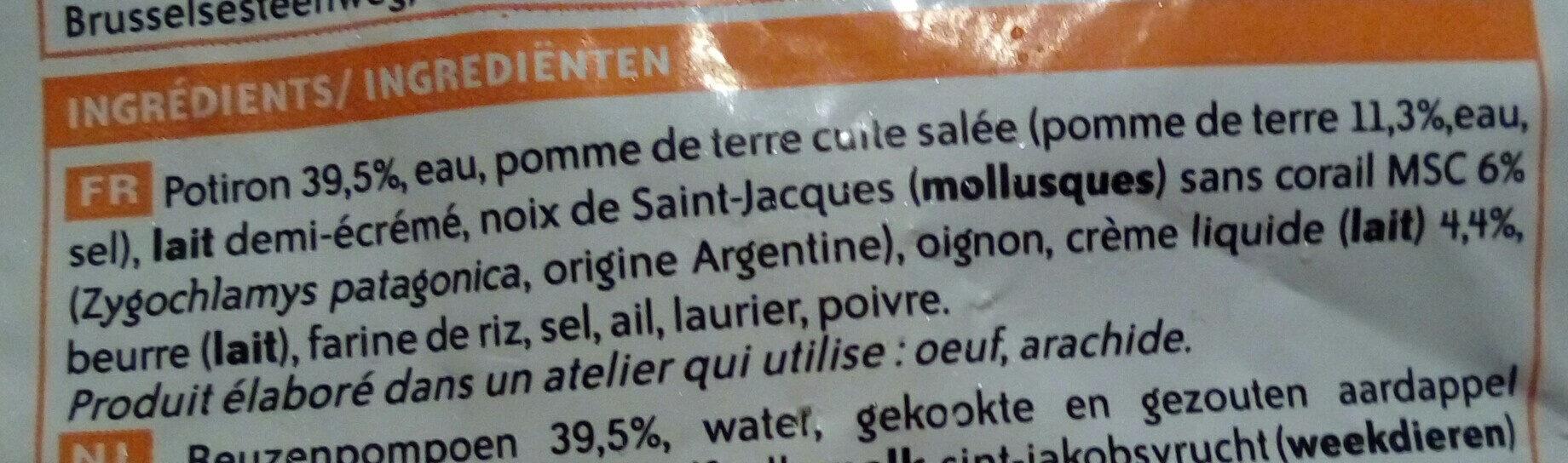 Velouté de potiron aux noix de Saint-Jacques - Ingredienti - fr