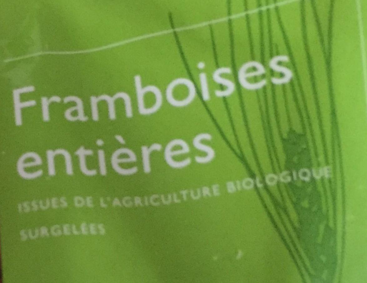 Framboises entières Bio - Ingredients - fr