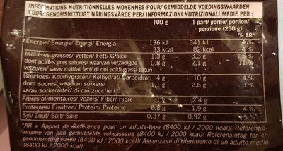 Velouté Potiron - Informations nutritionnelles - fr