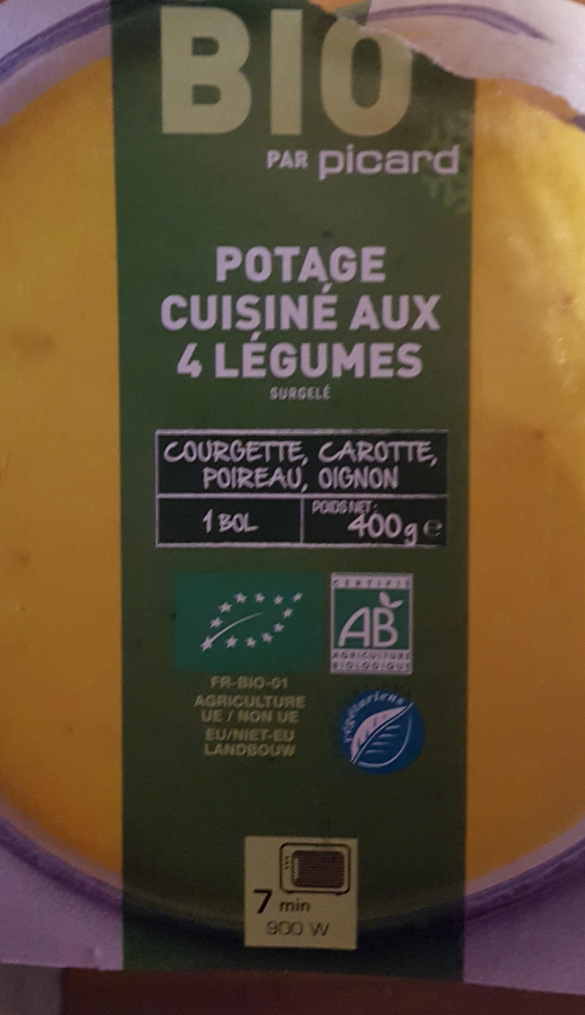 Potage cuisiné aux 4 légumes, bio - Produit - fr