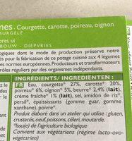 Potage cuisiné aux 4 légumes, bio - Ingrédients - fr