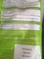 Mangues en morceaux bio - Ingrédients - fr