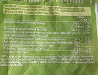 Mangues en morceaux bio - Informations nutritionnelles - fr