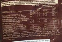 Velouté châtaigne potimarron huile de noisette - Nutrition facts - fr