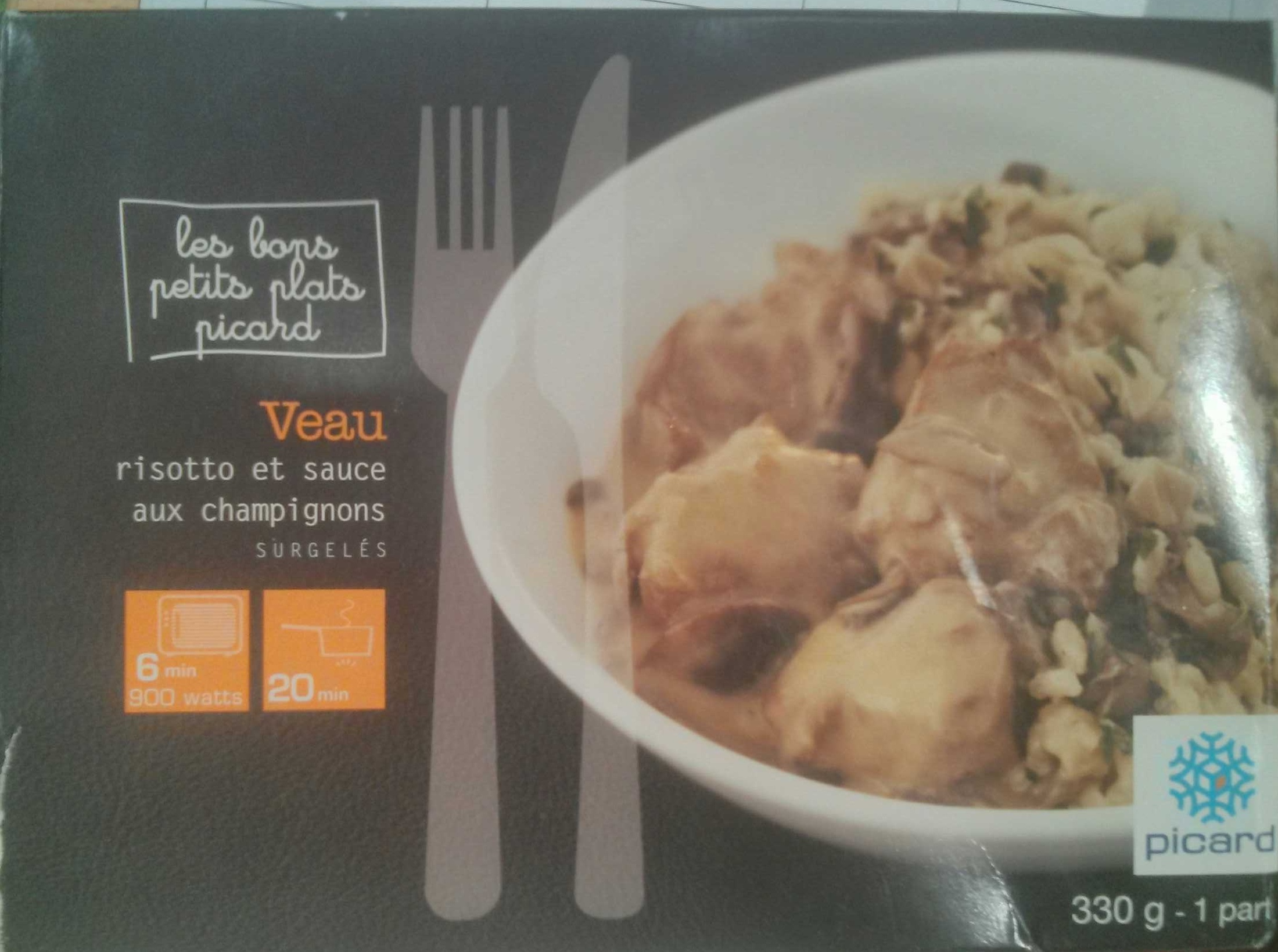 Veau risotto et sauce aux champignons - Product - fr