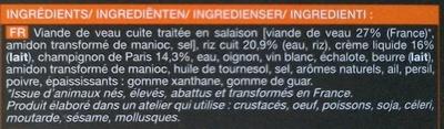 Veau risotto et sauce aux champignons - Ingrediënten - fr