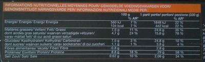 Veau risotto et sauce aux champignons - Voedingswaarden - fr