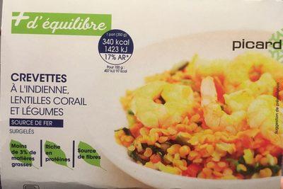 Crevettes à l'indienne, lentilles corail et légumes - Product