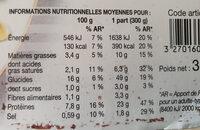 Poulet et petites pâtes sauce aux champignons - Informations nutritionnelles - fr