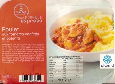 Poulet aux tomates confites et polenta - Produit