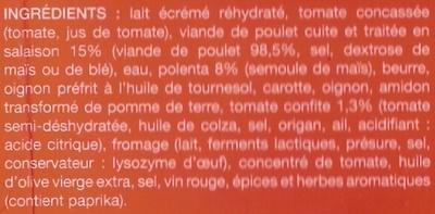 Poulet aux tomates confites et polenta - Ingrédients