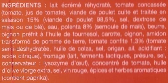 poulet aux tomates confites et polenta picard calories valeurs nutritionnelles et avis de. Black Bedroom Furniture Sets. Home Design Ideas