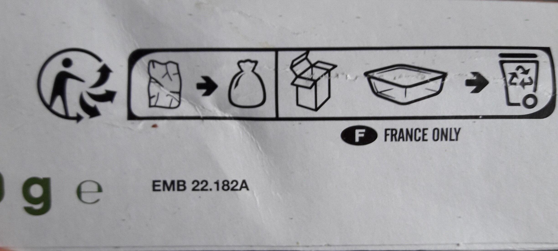 Lasagnes saumon, epinard - Recyclinginstructies en / of verpakkingsinformatie - fr