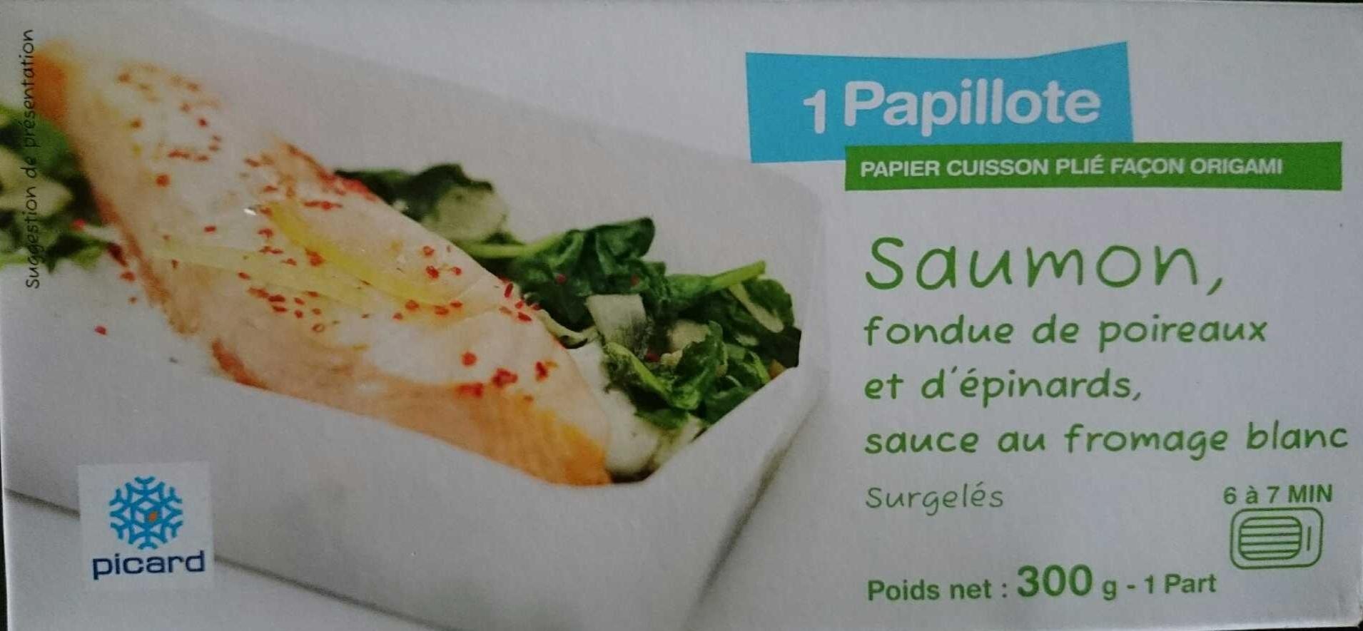 Saumon, fondue de poireaux et d'épinards, sauce au fromage blanc, Surgelés - Product - fr