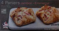 4 paniers jambon emmental - Product