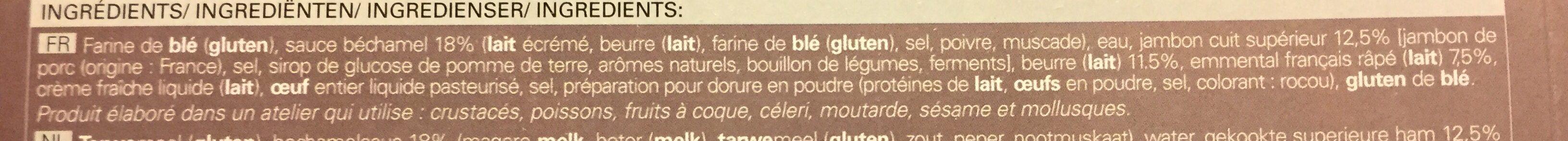 4 paniers jambon emmental - Ingrediënten