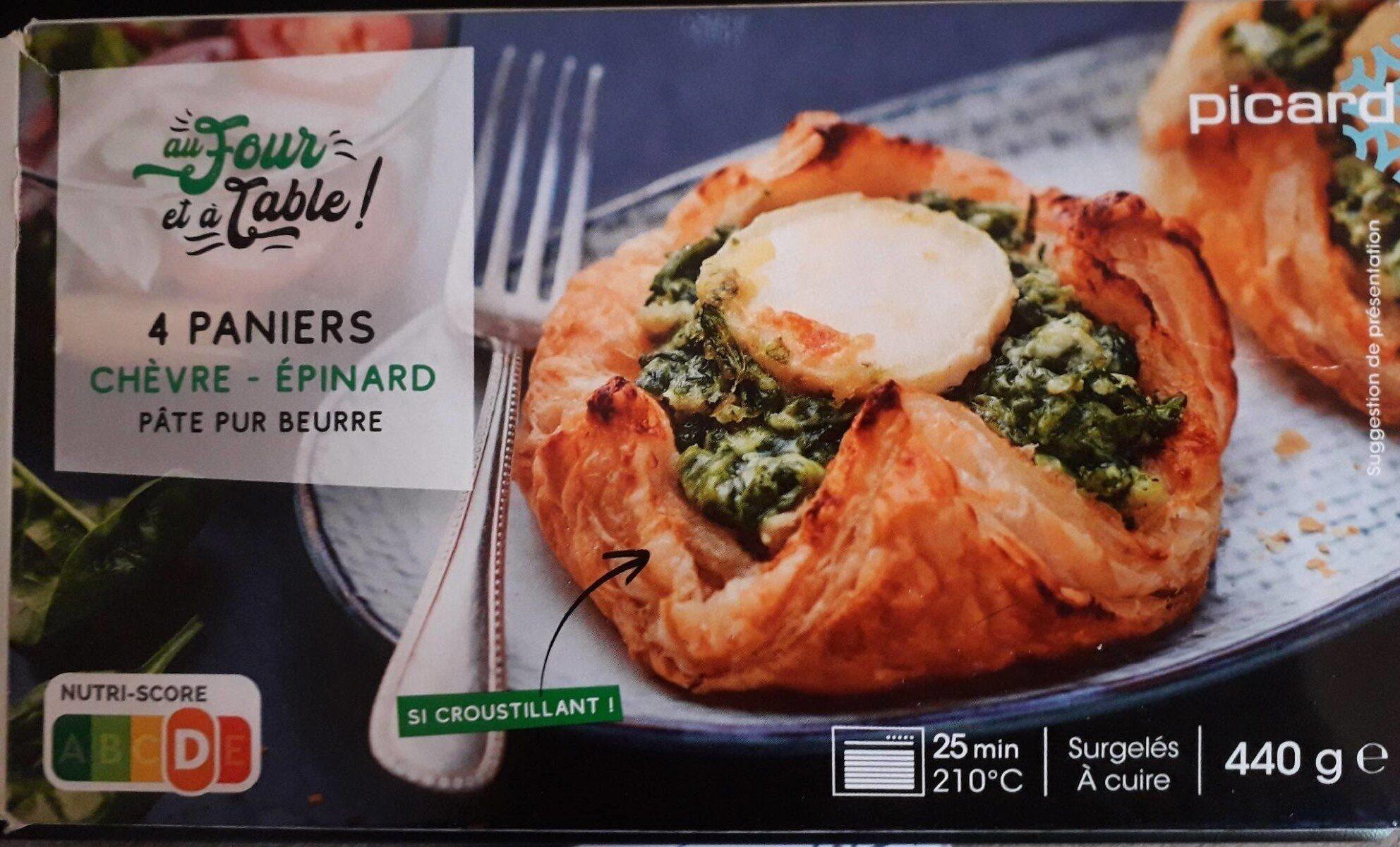 4 paniers chèvre épinard - Produit - fr