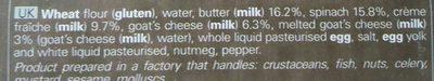 4 paniers chèvre épinard - Ingredients