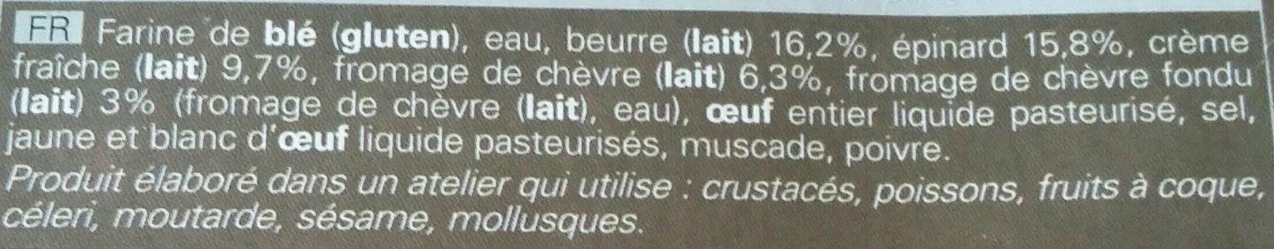 4 paniers Chèvre Épinard - Ingrédients - fr