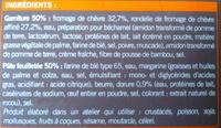 4 Paniers Fromage de chèvre - surgelés - Inhaltsstoffe - fr