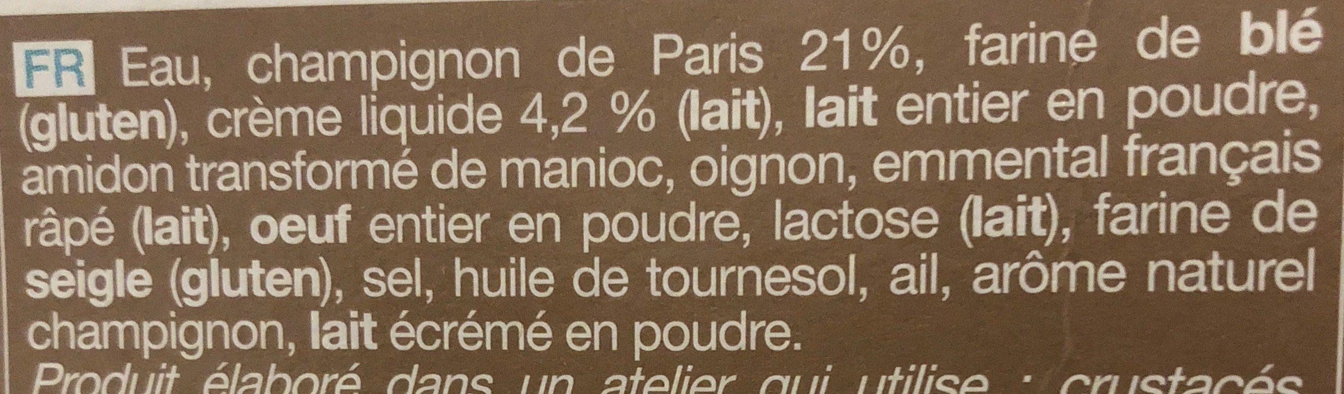 Crêpes champignon - Ingrédients - fr