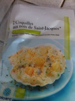 2 Coquilles aux noix de Saint-Jacques* - surgelé - Product - fr