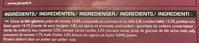 Pizza surgelée Jambon Speck Roquette Mozzarella - Ingrédients