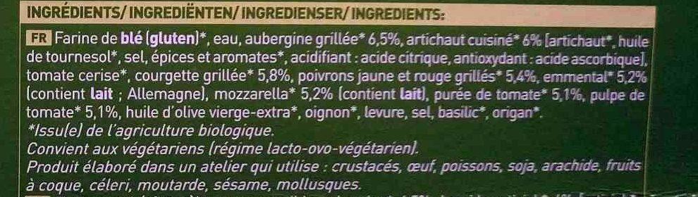 Pizza 4 Saisons - Ingredients