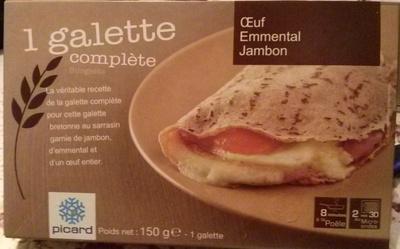 1 Galette Complète (Œuf, Emmental, Jambon) - Produit