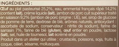 1 Galette Complète (Œuf, Emmental, Jambon) - Ingrédients