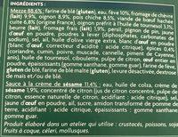 Mezze surgelés - Ingredients - fr