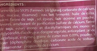 2 Naans - Ingrédients