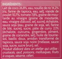 Soupe Kao Soi - Ingrédients