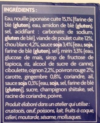 Soupe Ramen - Ingrediënten