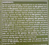 Bo Bun Poulet - Ingrédients