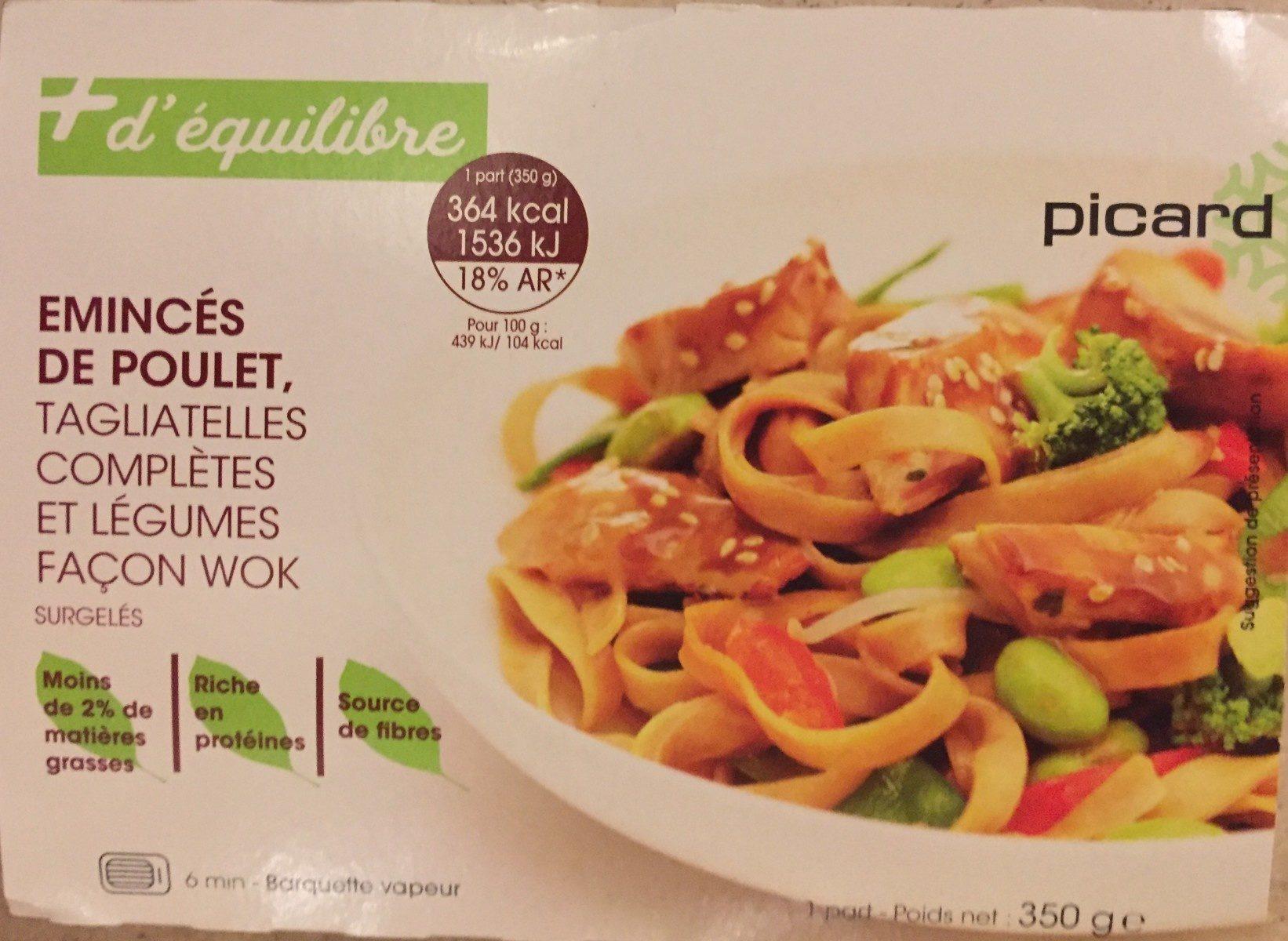 Émincés de poulet tagliatelles complètes et légumes façon wok - Produit - fr