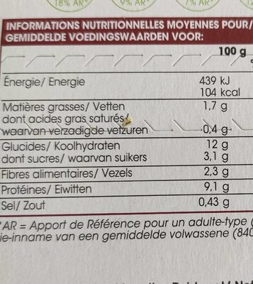 Émincés de poulet tagliatelles complètes et légumes façon wok - Voedingswaarden - fr