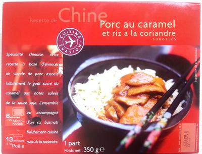 Porc au caramel et riz à la coriandre - Produit