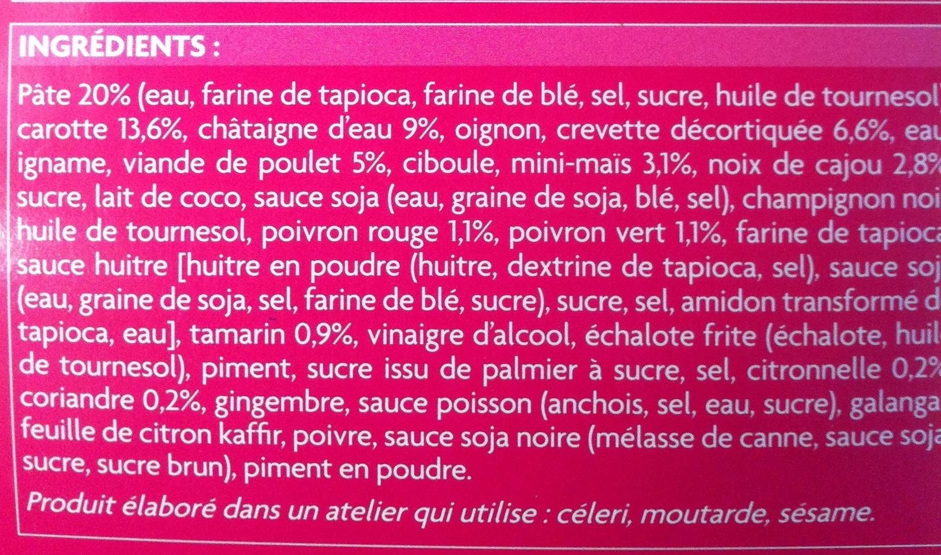 Bouchées apéritives - Ingredients
