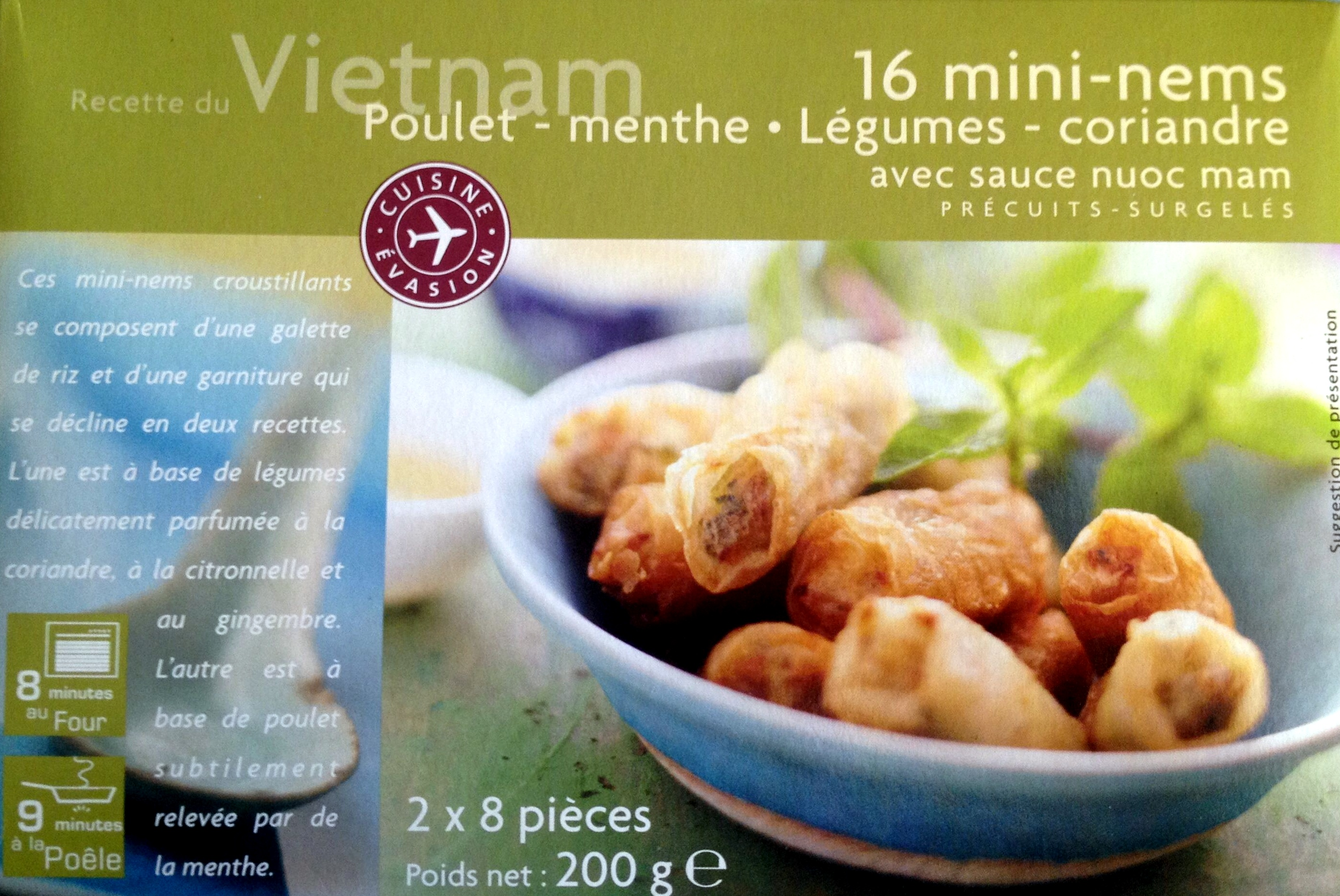 16 Mini-Mems (Poulet, Menthe, Légumes, Coriandre) - Product