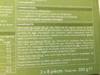 16 Mini-Mems (Poulet, Menthe, Légumes, Coriandre) - Ingrediënten