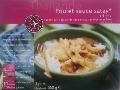 Poulet sauce satay et riz - Product - fr