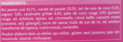 Poulet sauce satay et riz - Ingrediënten - fr