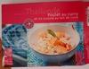 Recette de Thaïlande Poulet au curry et riz cuisiné au lait de coco - Produit
