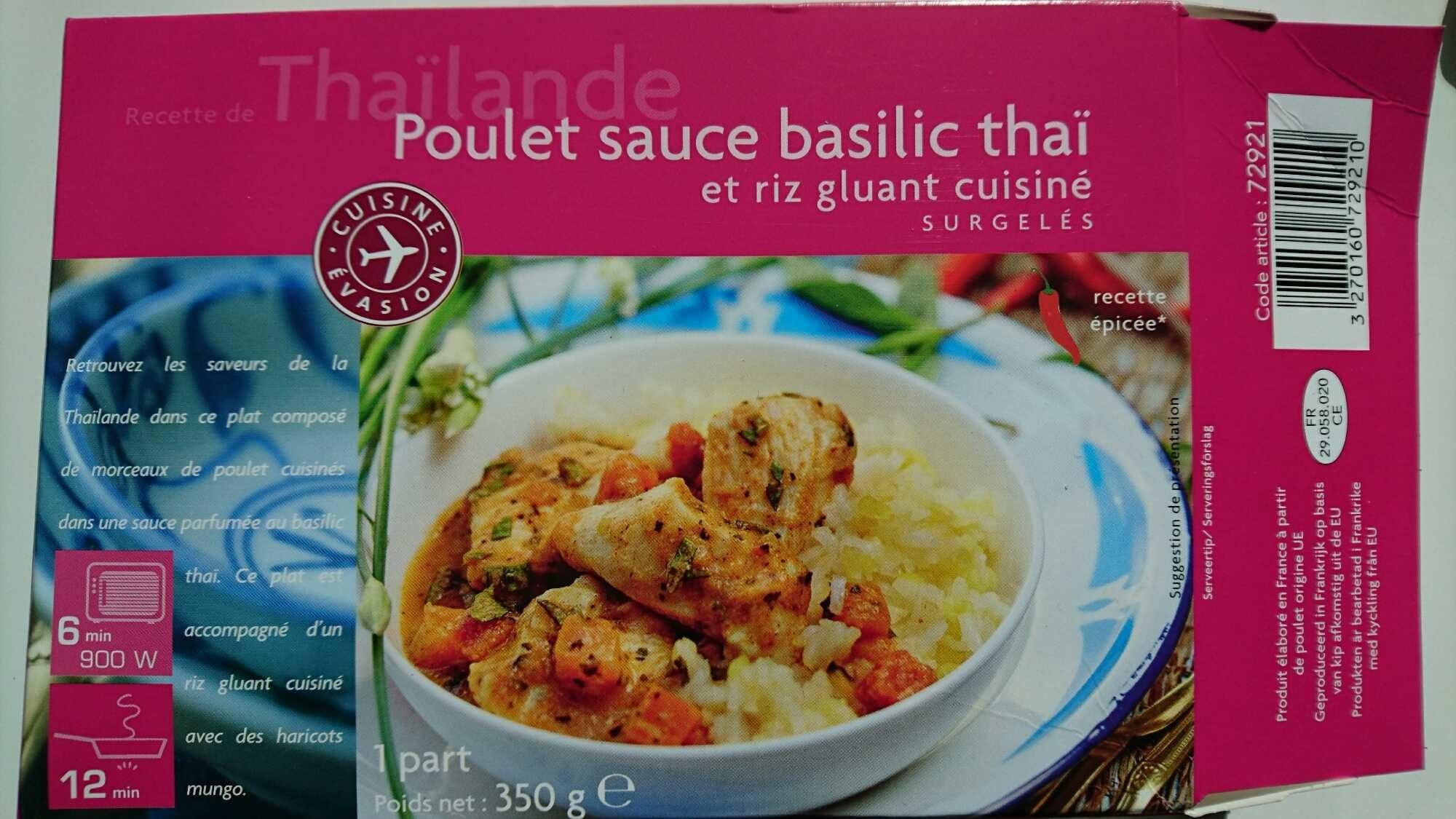 Poulet Sauce Basilic Thaï et Riz Gluant Cuisiné - Produit