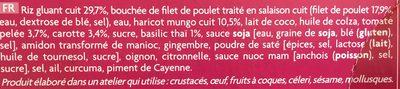 Poulet Sauce Basilic Thaï et Riz Gluant Cuisiné - Ingrédients