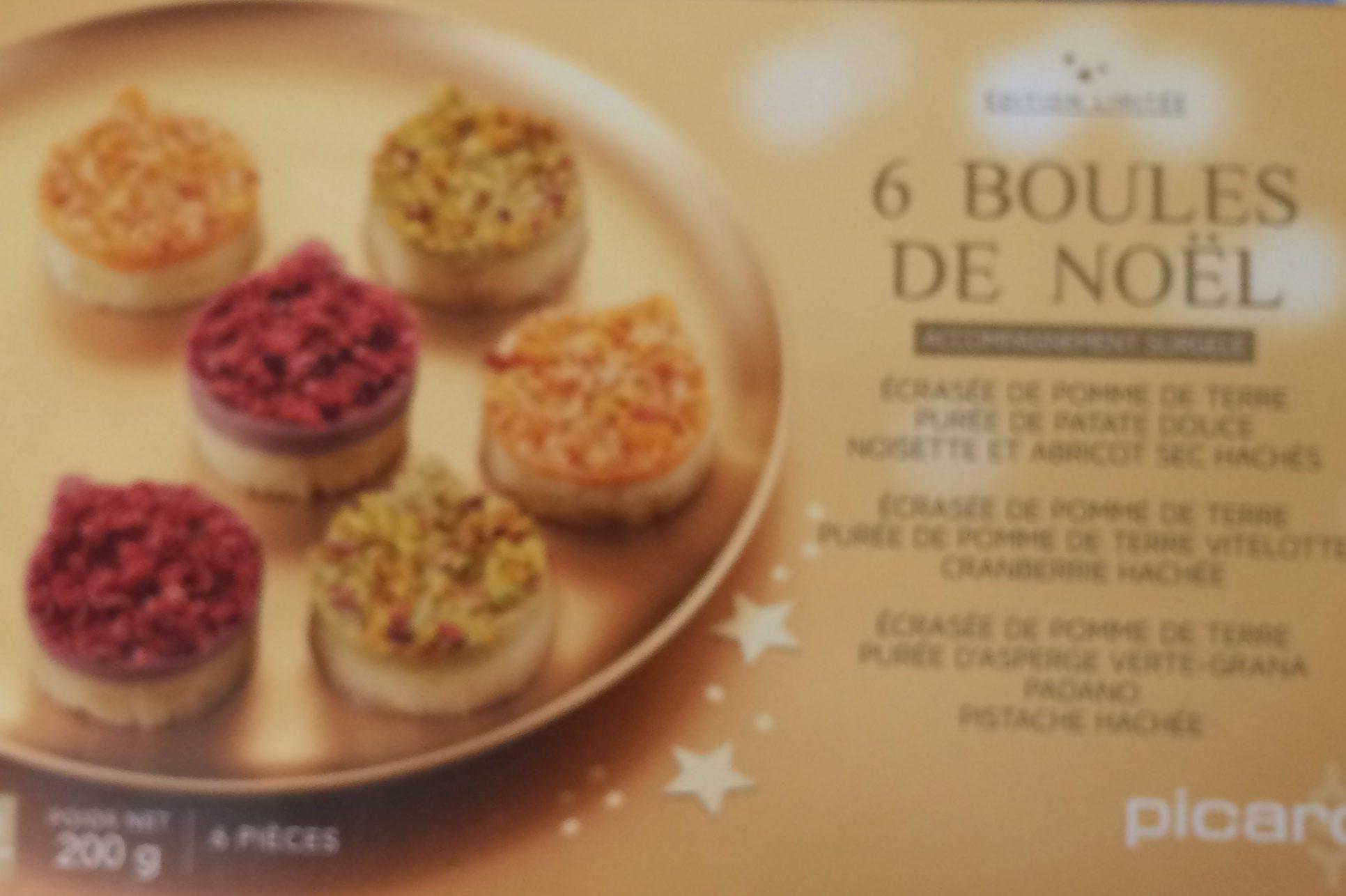 Picard Boule De Noel.6 Boules De Noël Picard 200 G