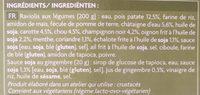 Raviolis vietnamiens aux légumes - Ingredients - fr